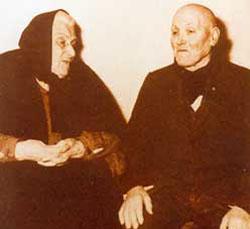 Alessandro Serenelli with Assunta Goretti, St. Maria's mother.